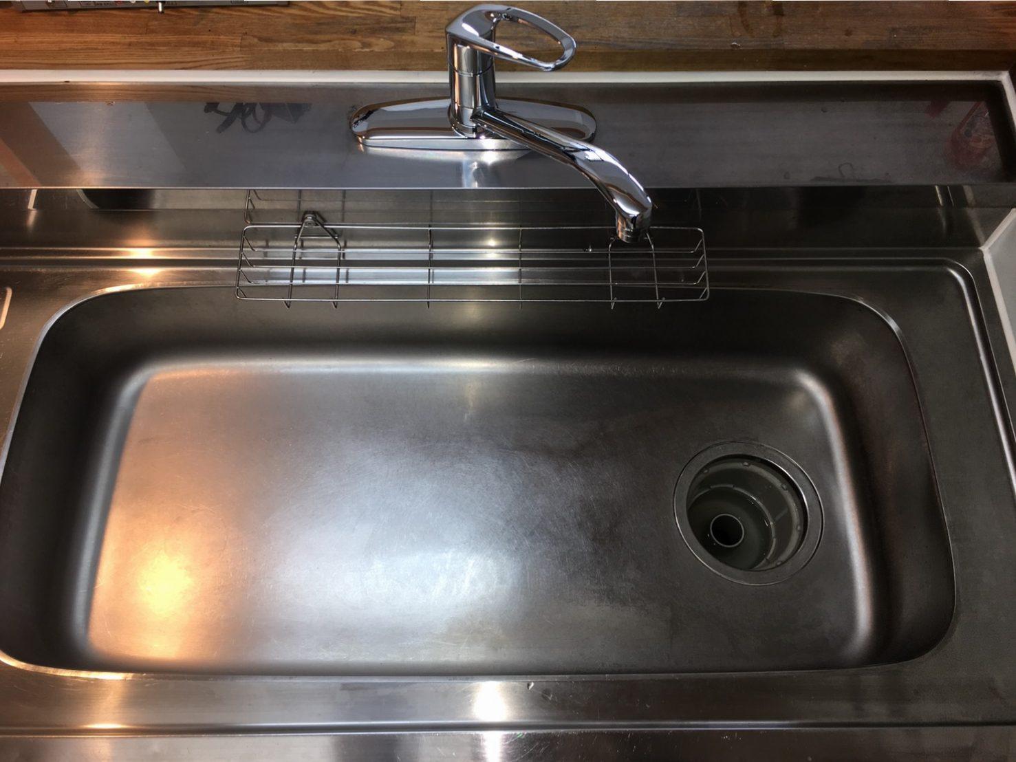 川西市 キッチン(台所)「シンクのお掃除」ハウスクリーニング/おそうじ おそうじプラス