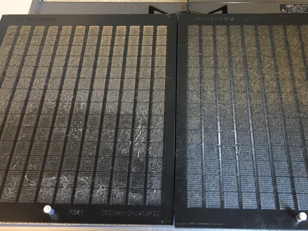 レンジフードのフィルターの清掃・おそうじプラスでは換気扇のフィルターを完璧にキレイします♪