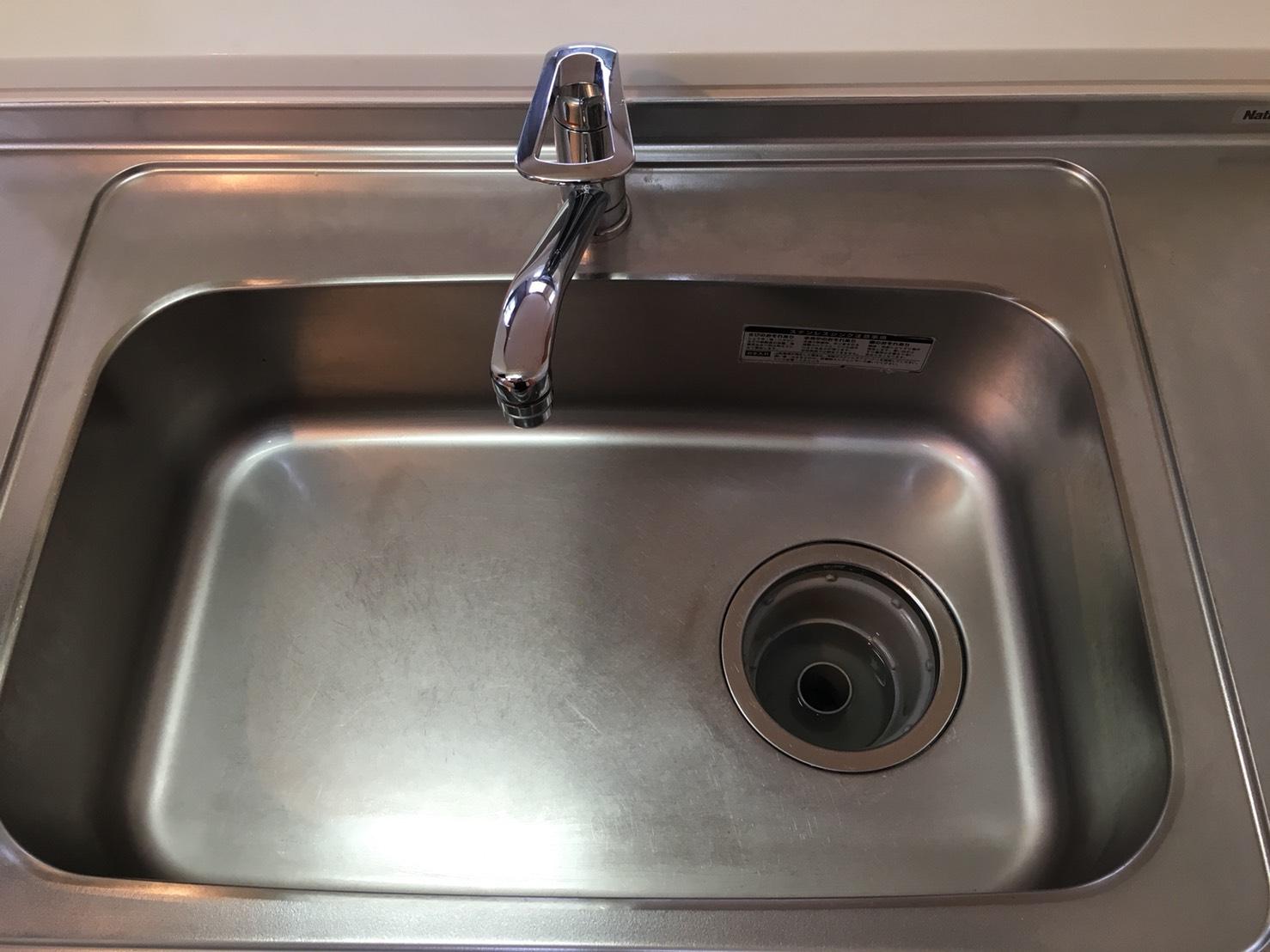 キッチンの「シンク清掃」シンクの水アカをクリーニング!プロのおそうじ、おそうじプラスにおまかせ下さい!✉📱072-768-9969 info@osouji-plus.com